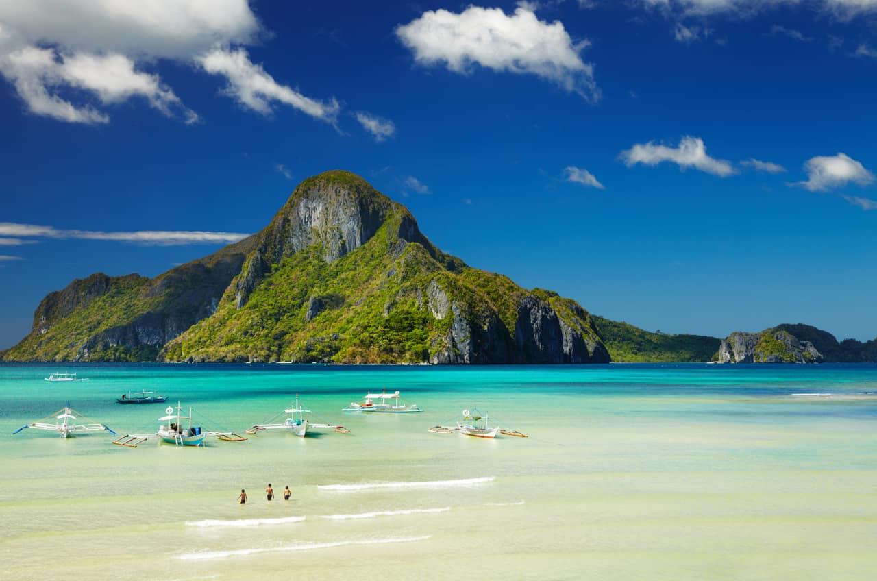 El Nido Bay, Cadlao Island, Palawan, Filipinas