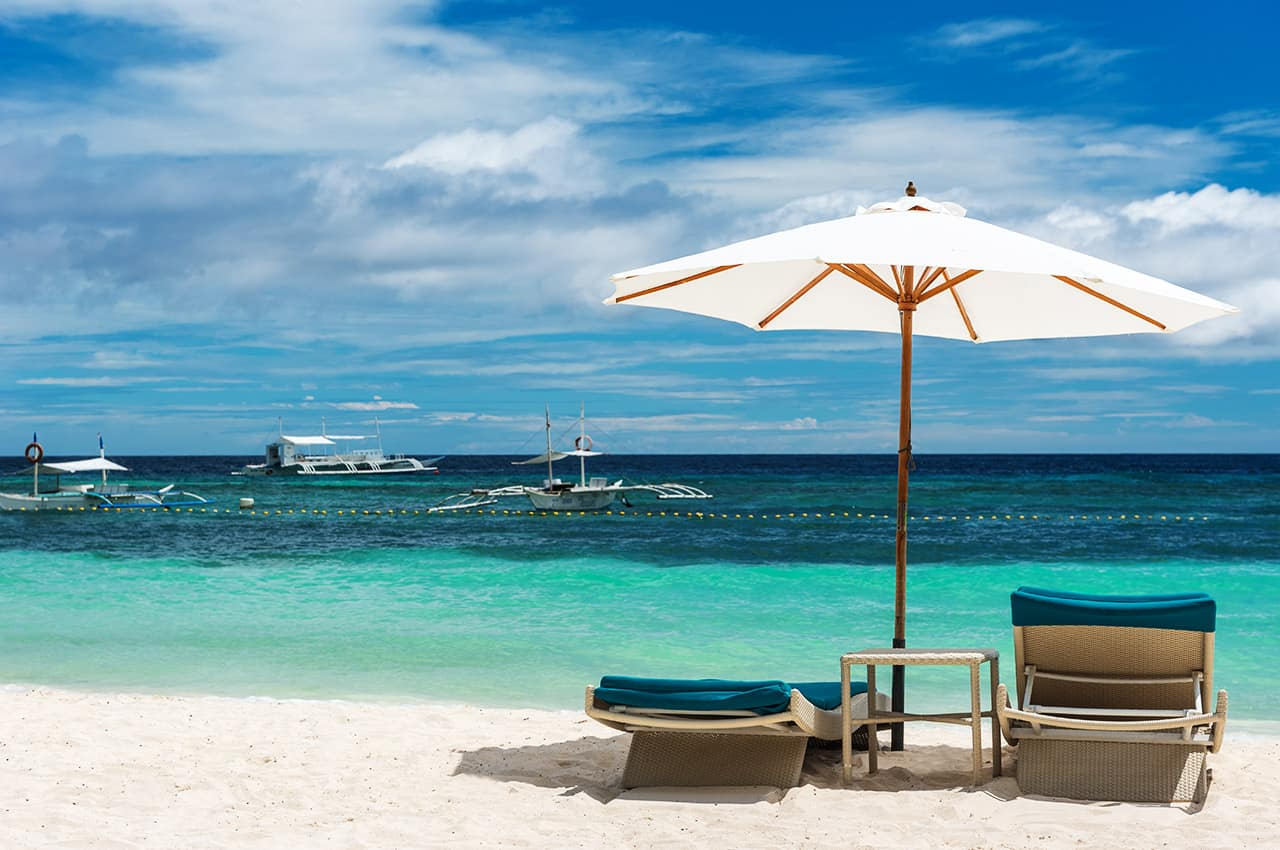 Praia Alona, na ilha de Panglao em Bohol