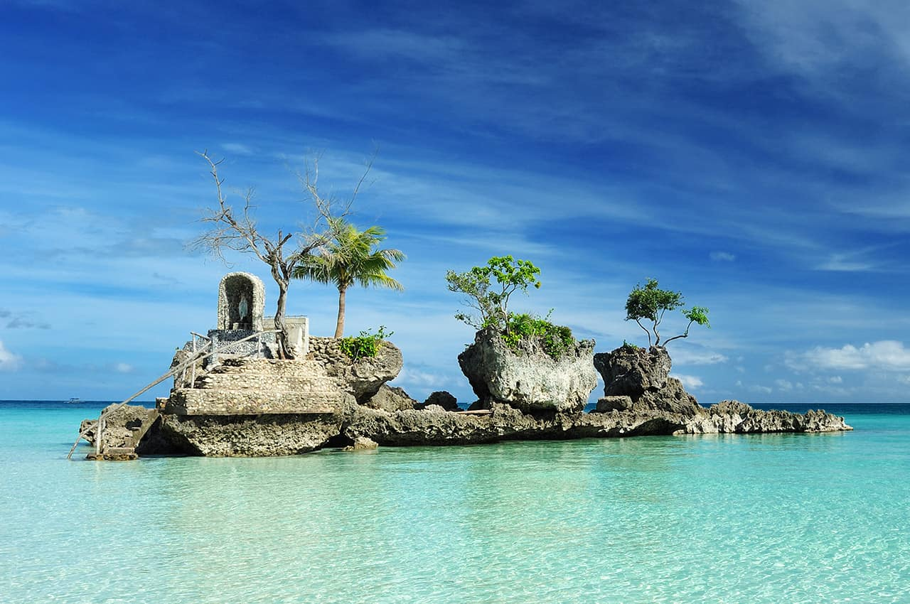 Willy's Rock, Praia Ilha Boracay, Filipinas Turismo