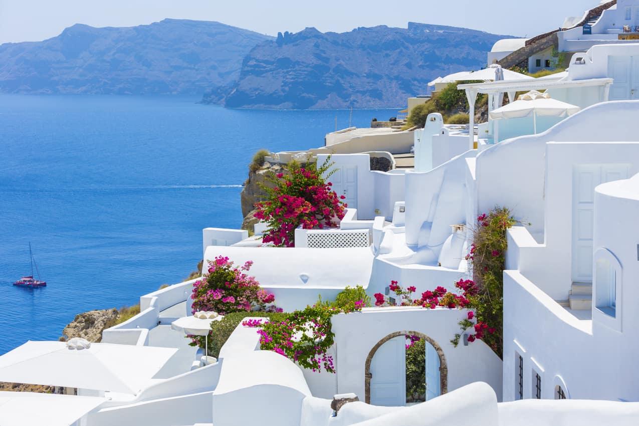 Arquitetura Ilha Santorini, Grécia