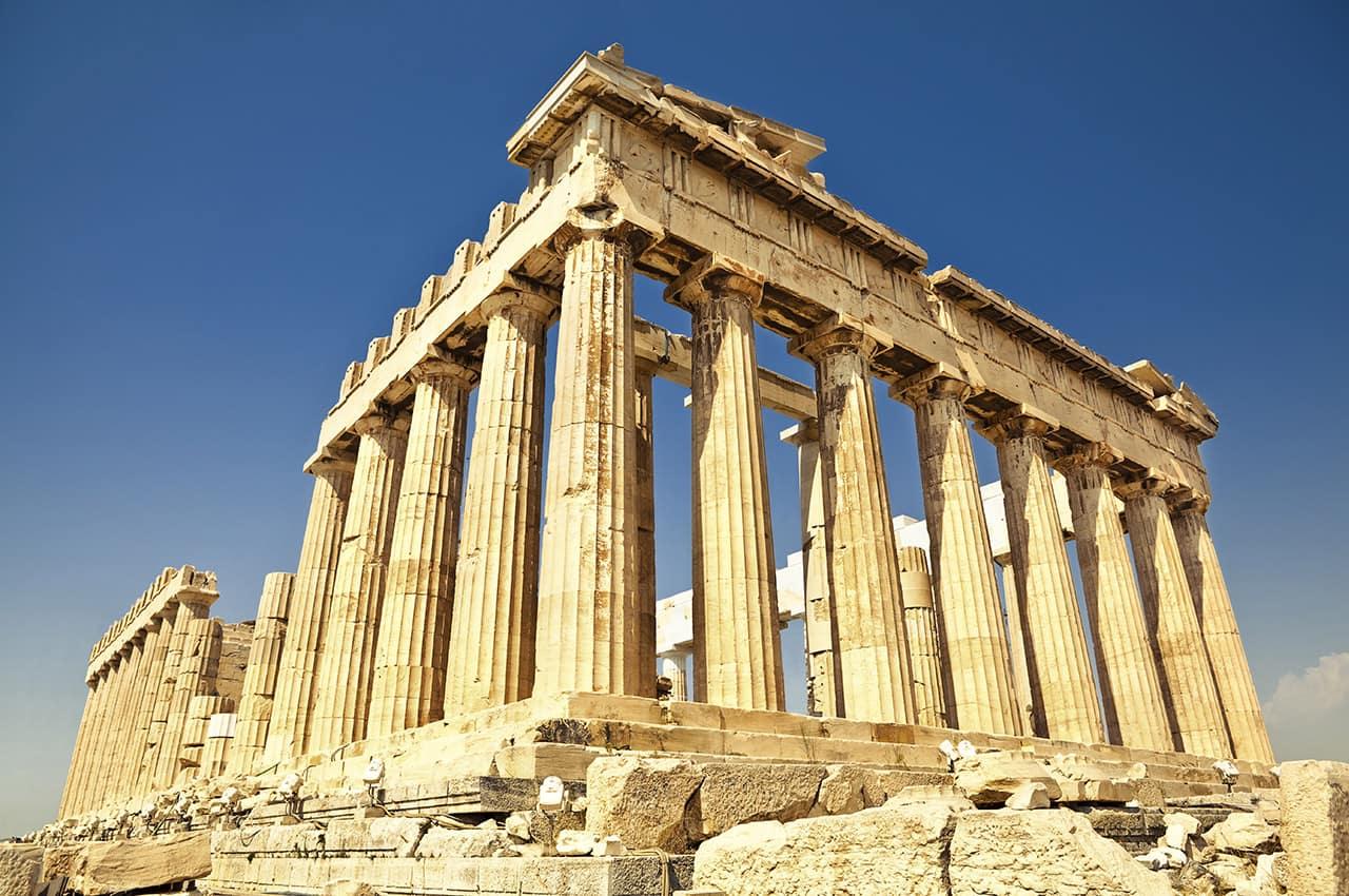 Partenon na Acrópole, Atenas, Grécia Turismo