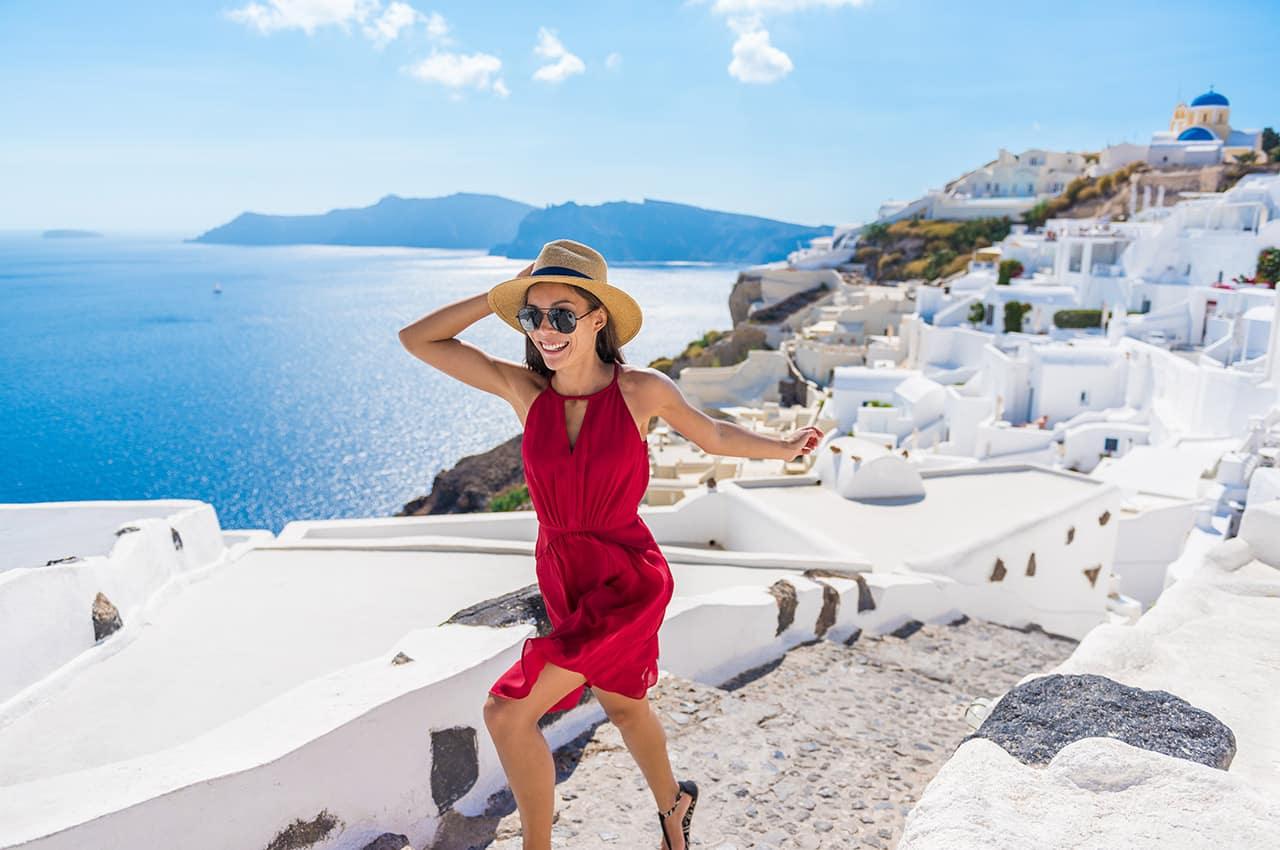 Passeio por Santorini, Grécia.
