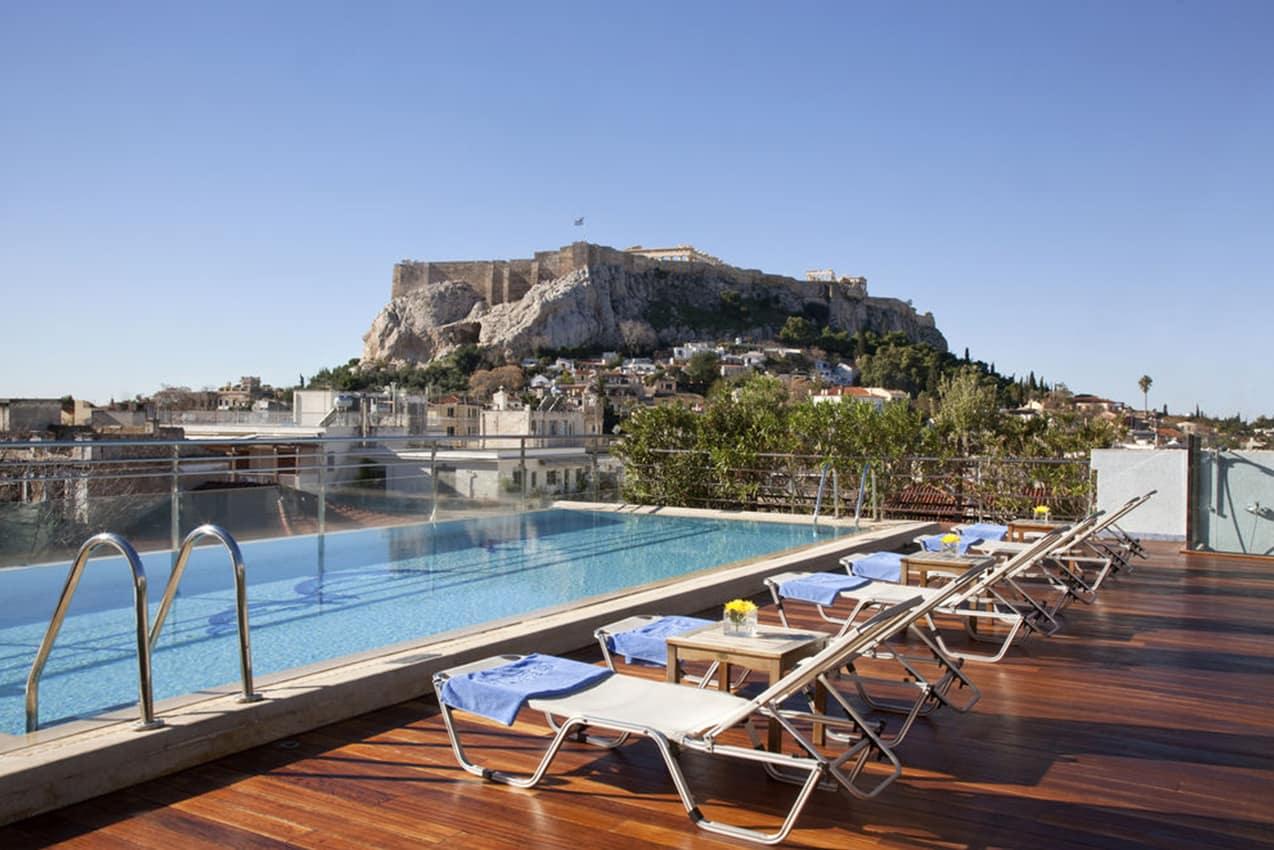 Piscina externa, Electra Palace Athens