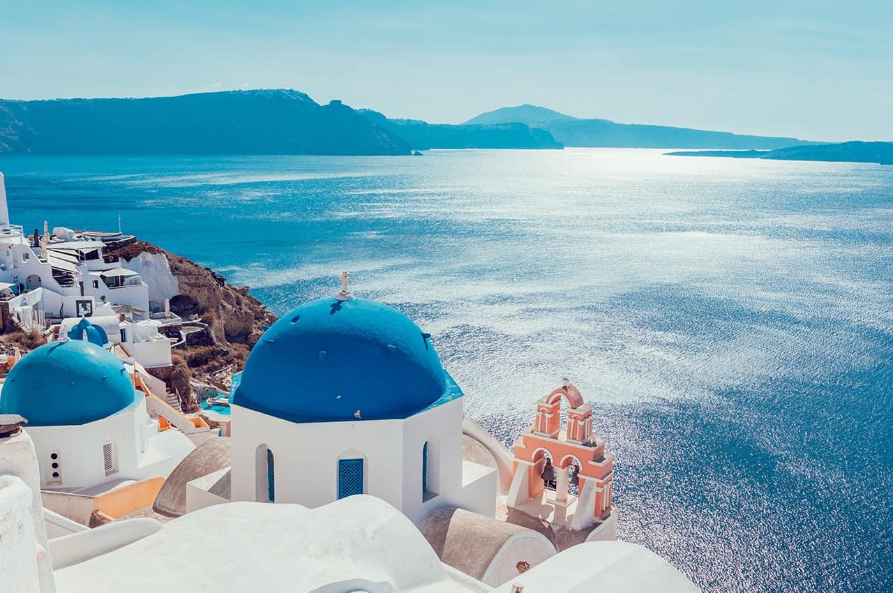 Vista de Santorini - Grécia