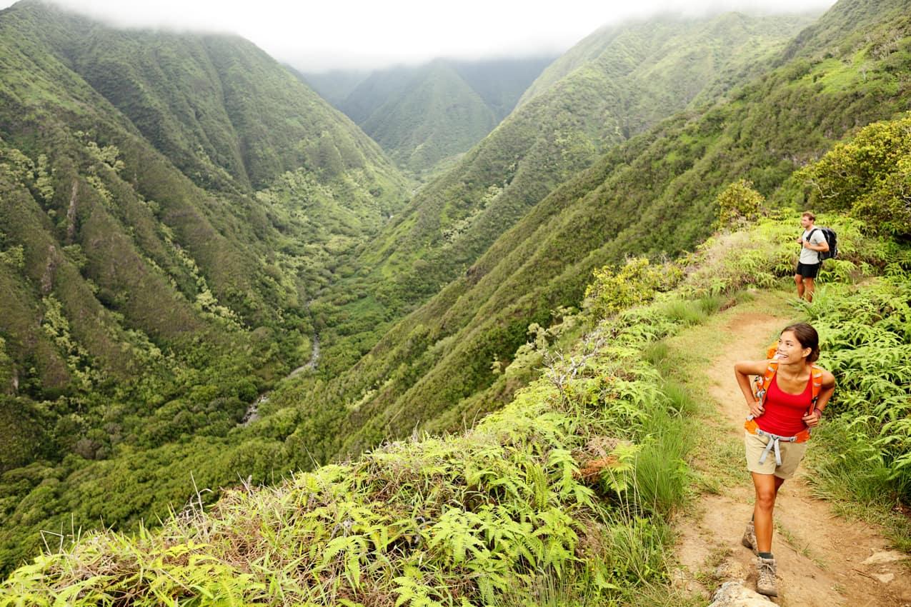 Atividade passeio trilha Ridge Waihee, Maui, Havaí