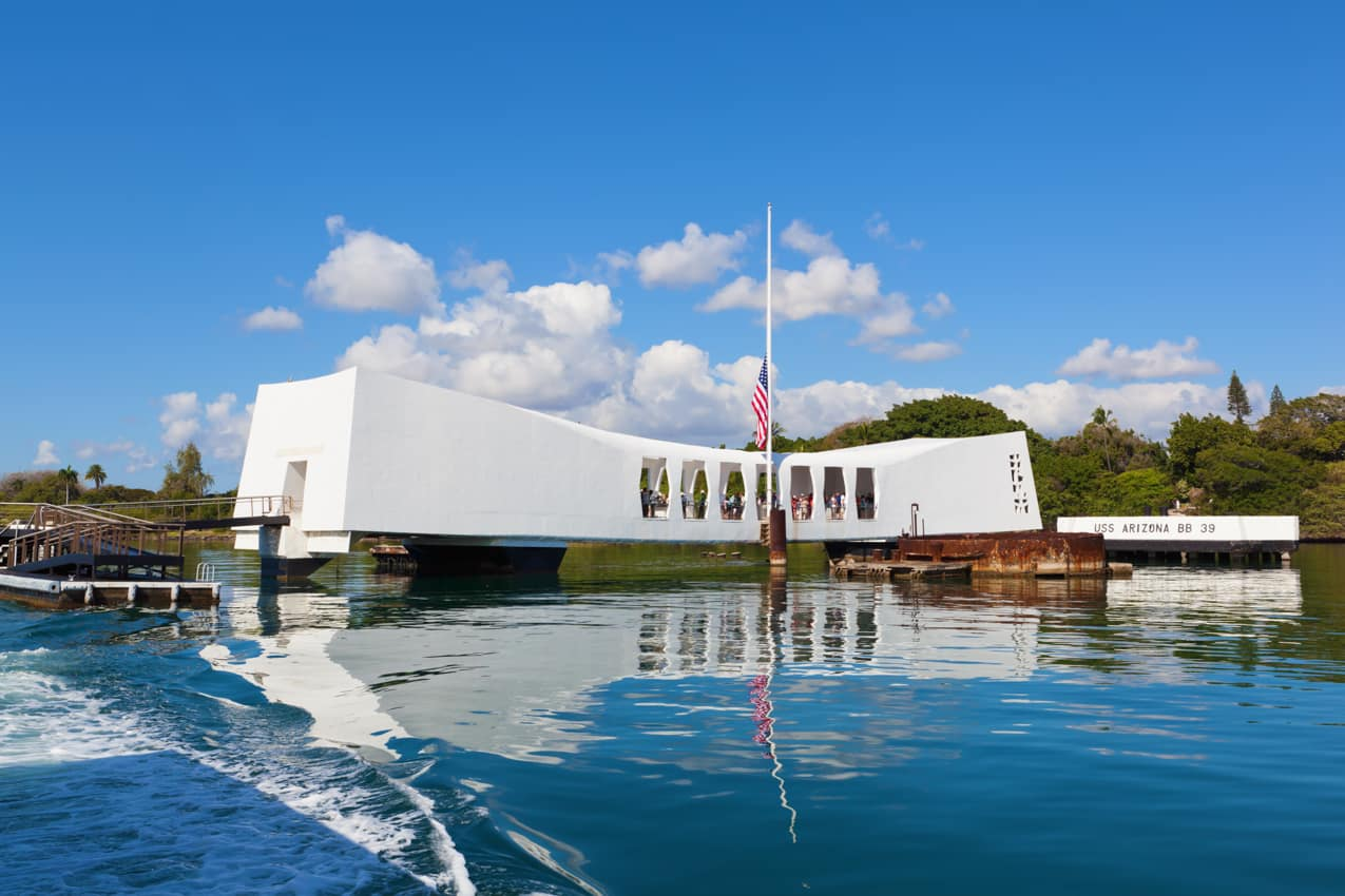 Atração turística: Memorial USS Arizona, Pearl Harbor, Havaí