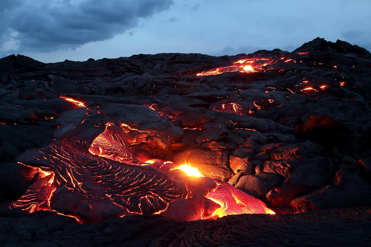 Atração turística: vulcões Big Island, Havaí