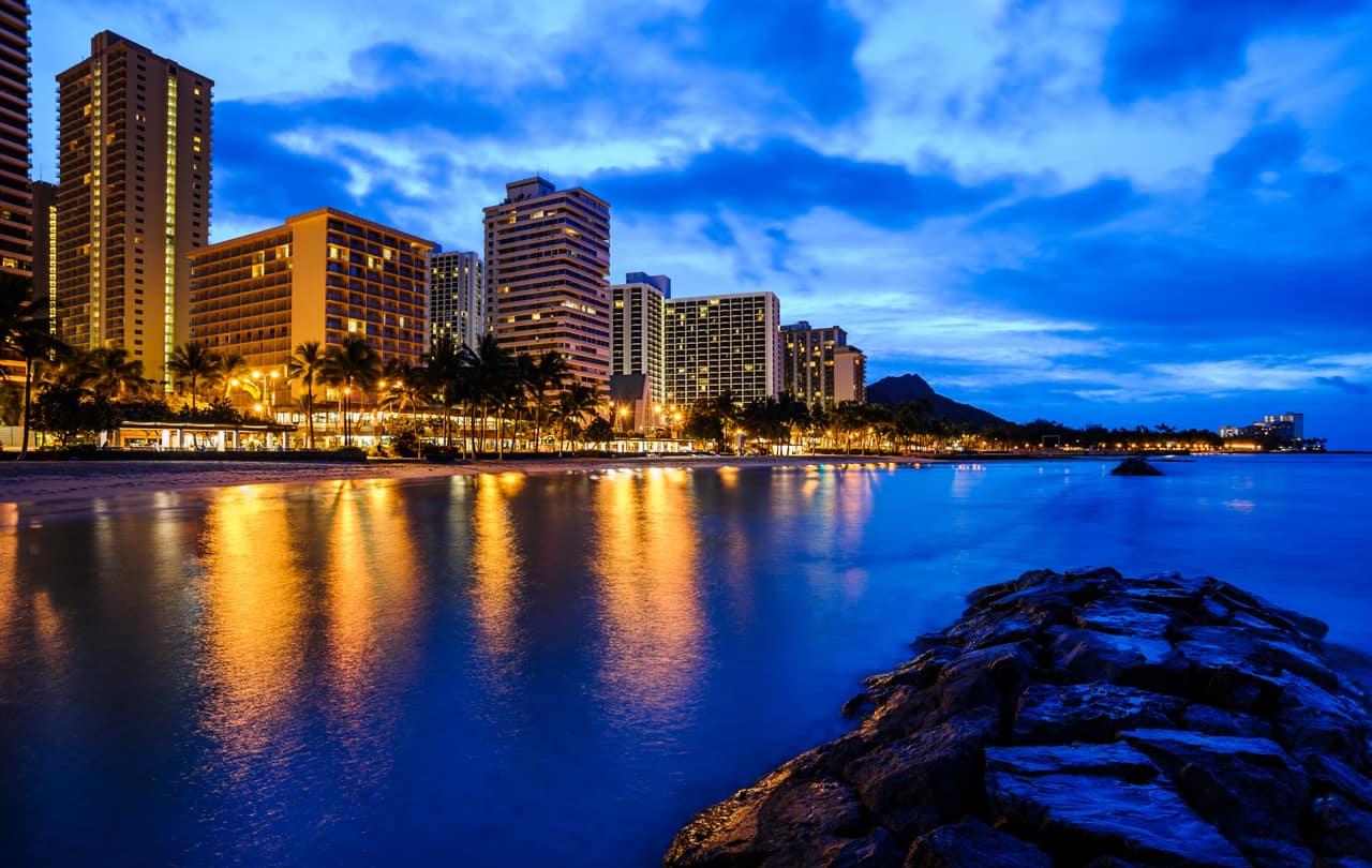 Praia Waikiki, Honolulu, Havaí