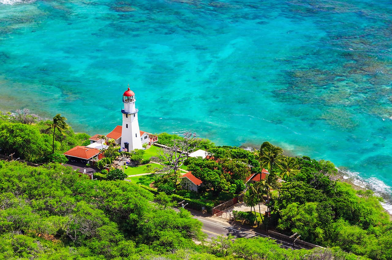 Vista aérea de Honolulu - Havaí.