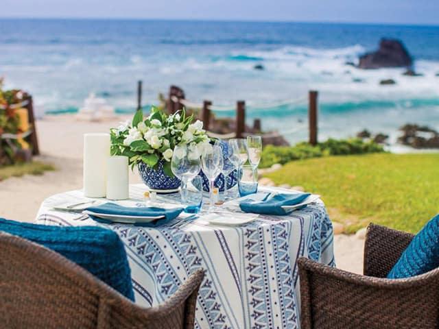 Jantar à beira mar - Four Seasons Punta Mita