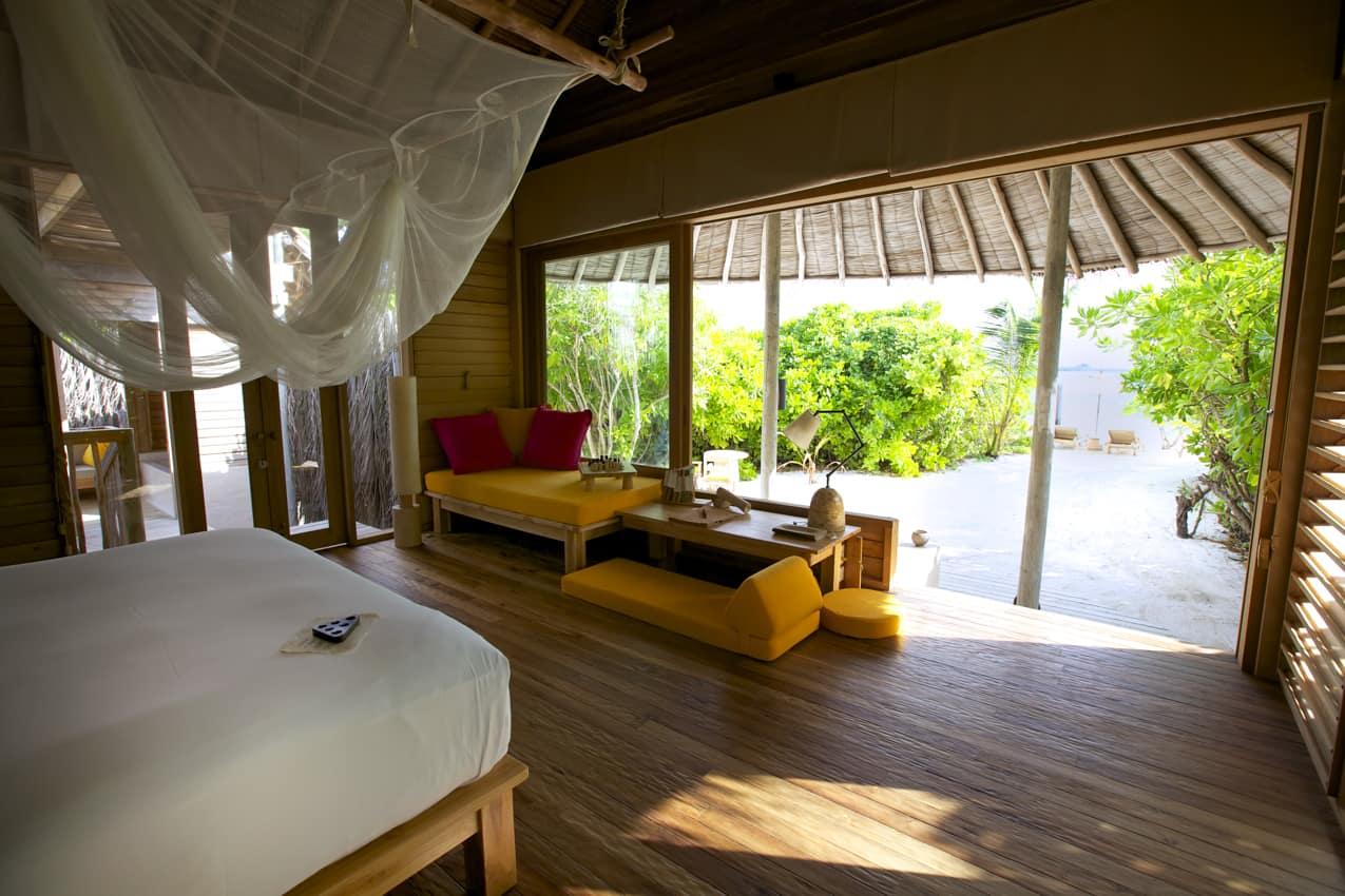 Beach Villa do Six Senses Laamu, Maldivas