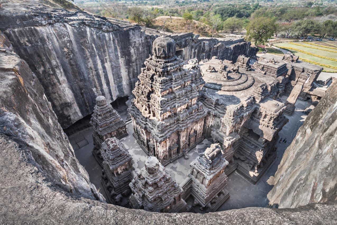Atração turística: Templo Kailas Ellora Maharashtra, Índia