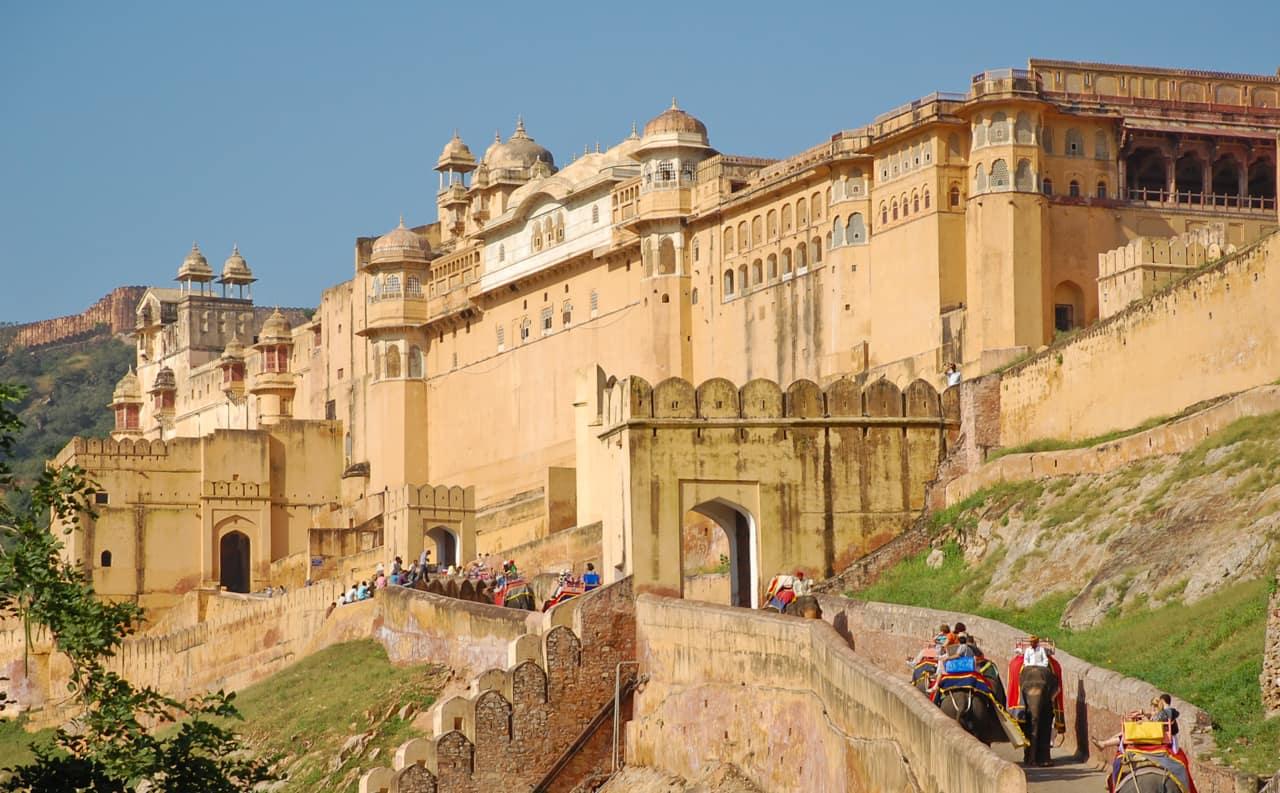 Pacote Índia: passeio elefante Forte Amber, Jaipur