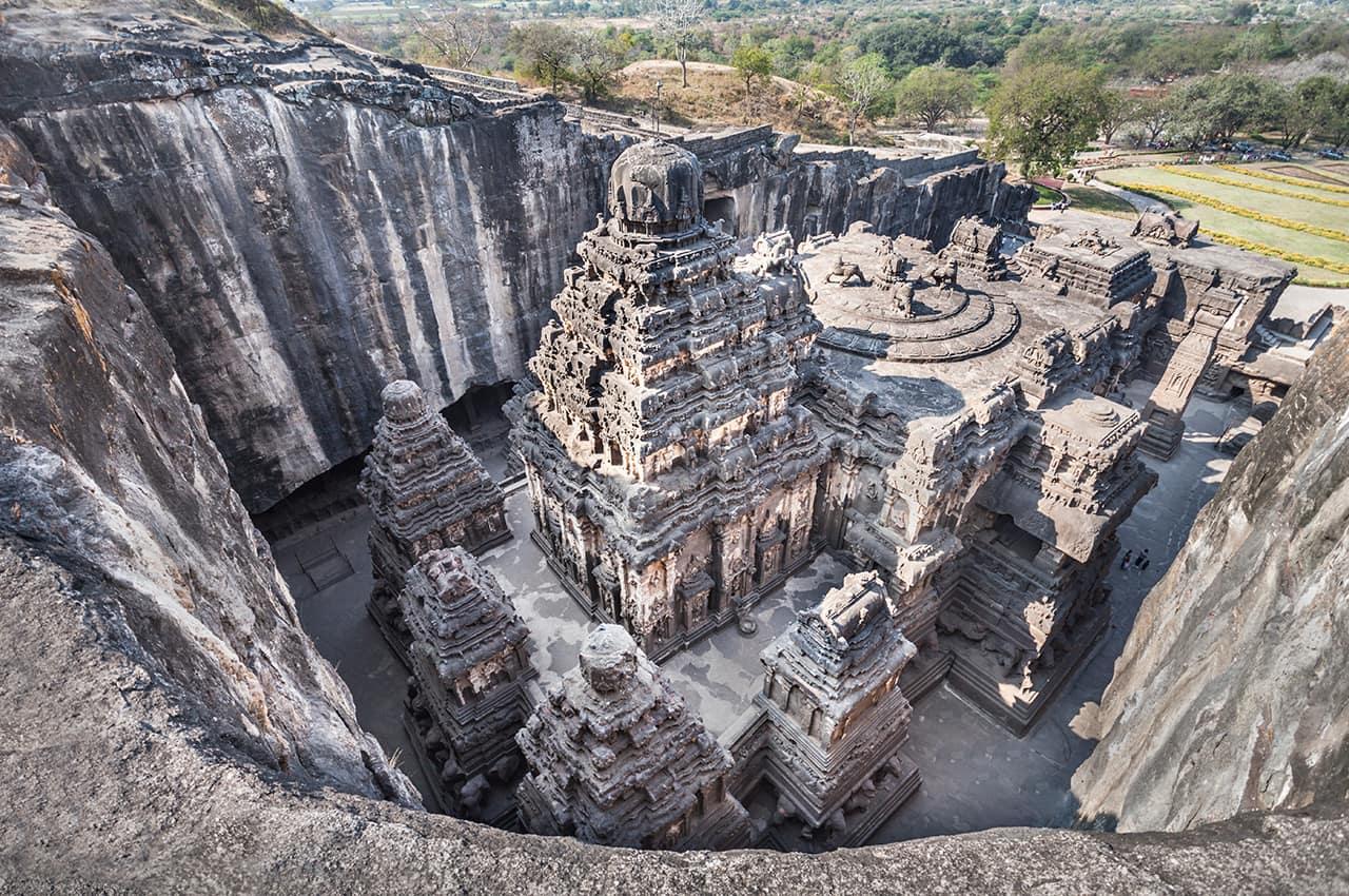 Ponto Turístico: Ajankailas, Templo Ellora Maharashtra, Índia