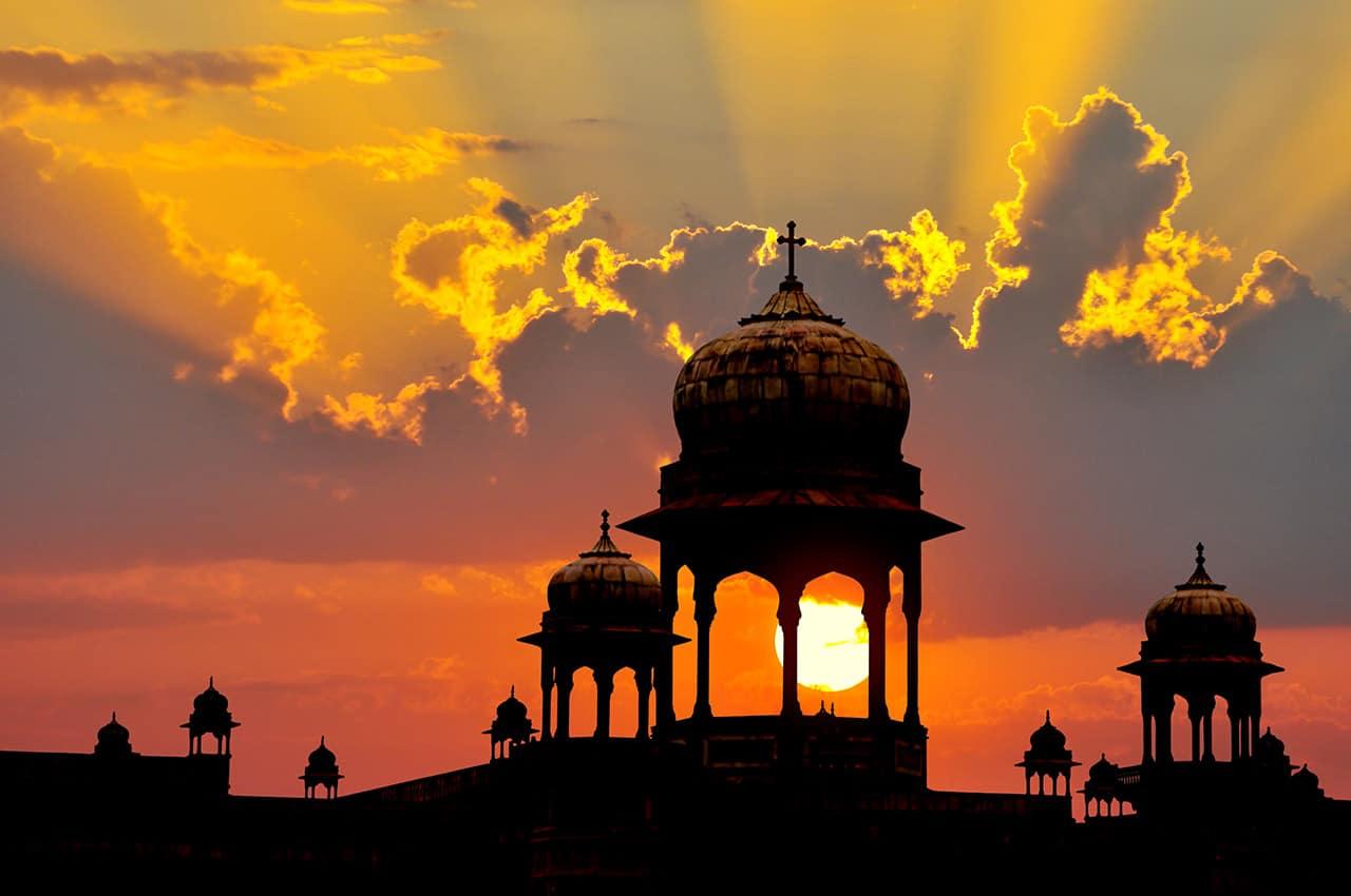 Pôr do sol Rajastão, Índia