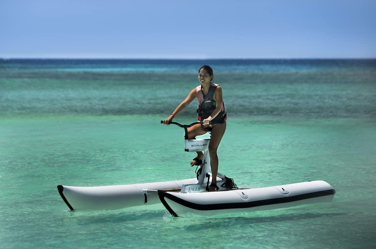 Bicicletas aquáticas, Amanpulo