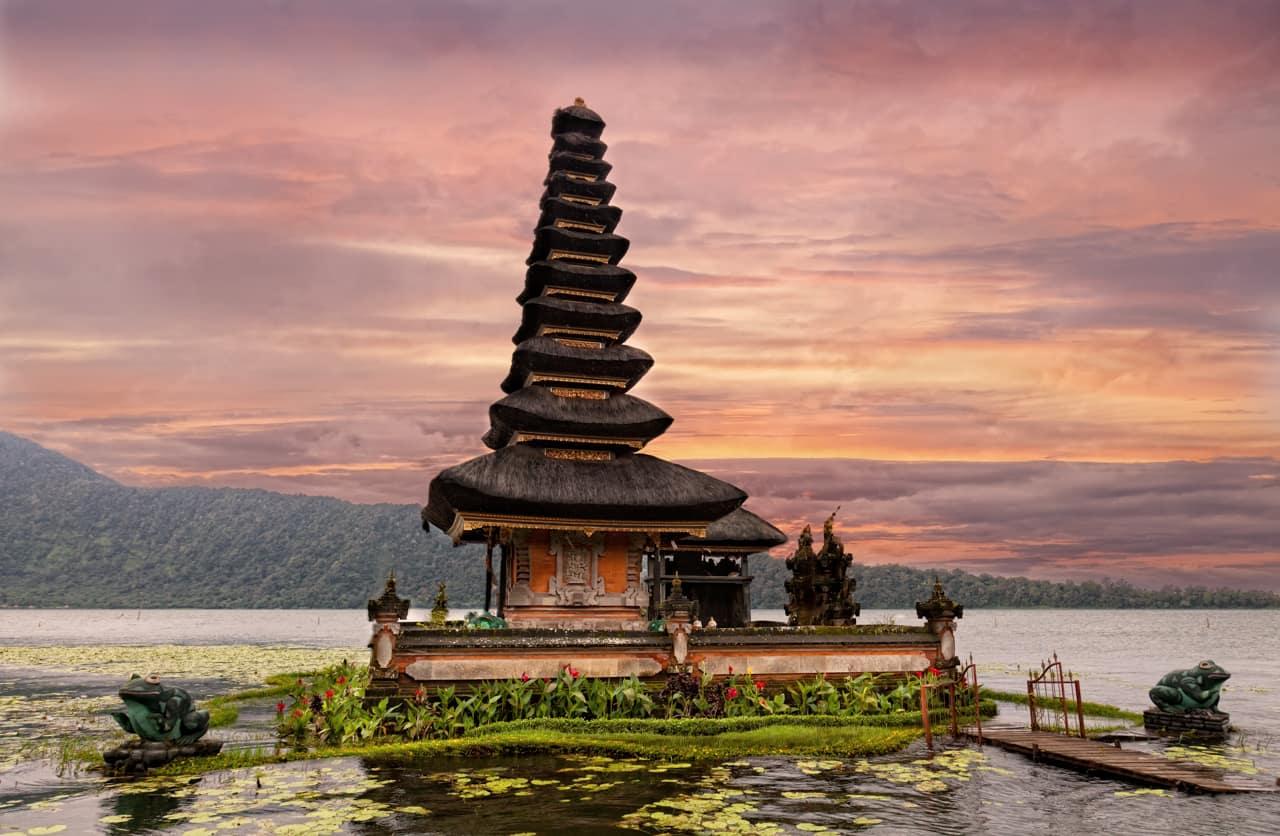 Templo Ulun Danu Beratan, Bali, Indonésia