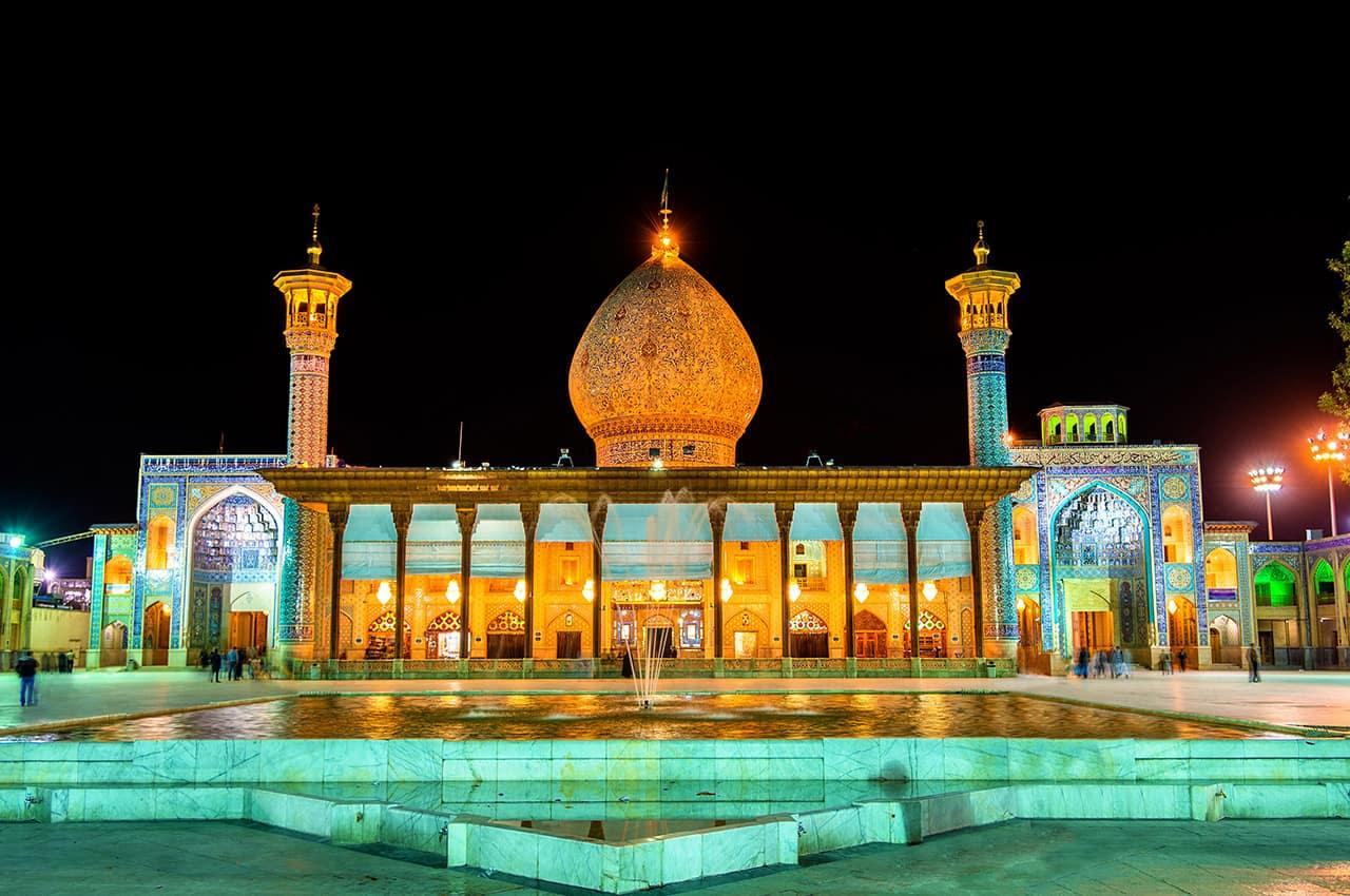 Mesquita Shah Cheragh em Shiraz, Irã.