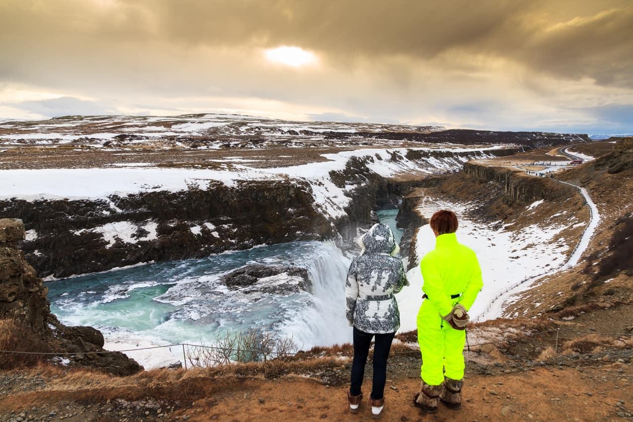 Atração turística Cachoeira Gullfoss, Islândia