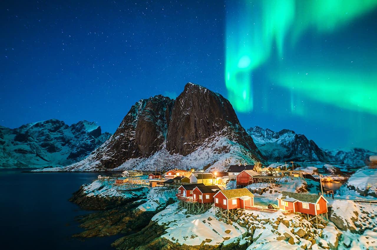 Luzes aurora boreal islandia