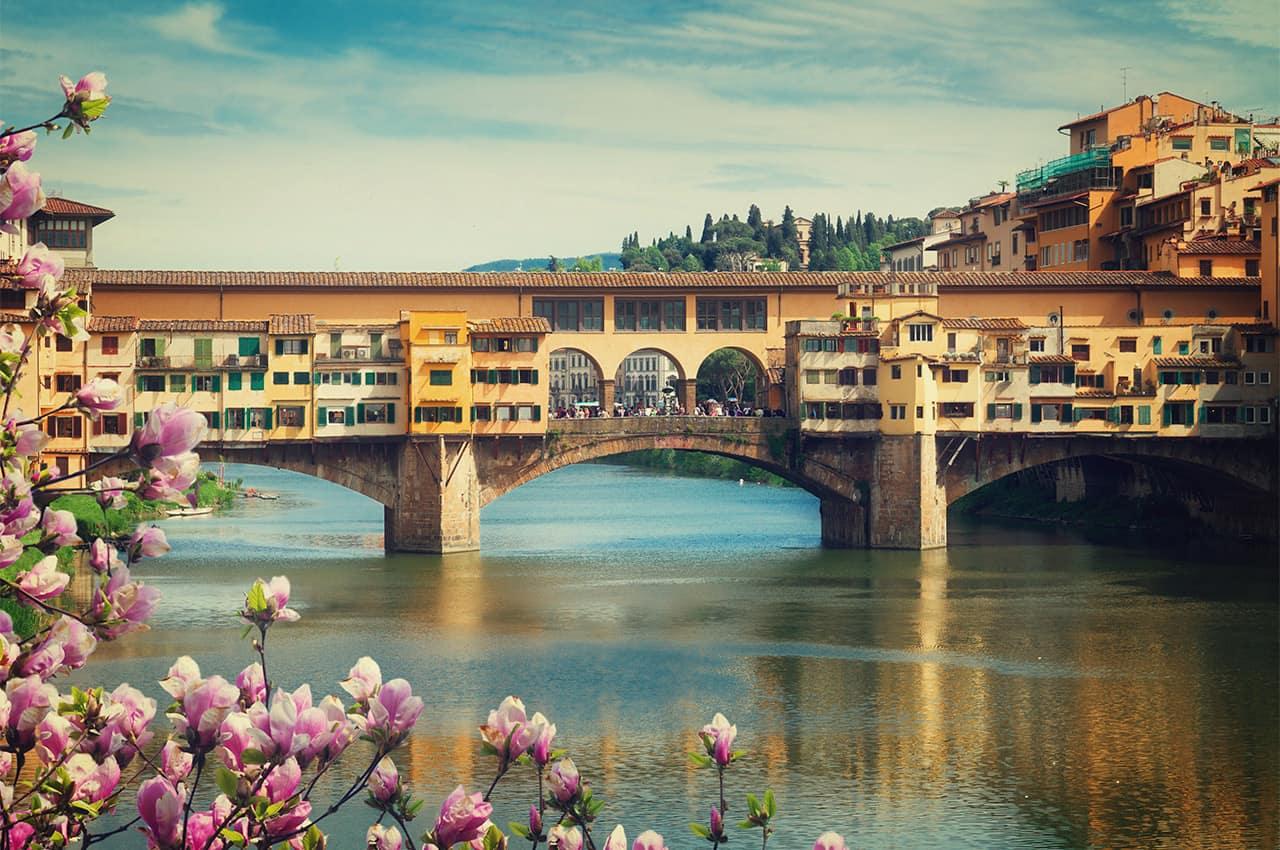 Ponte vecchio em floren a