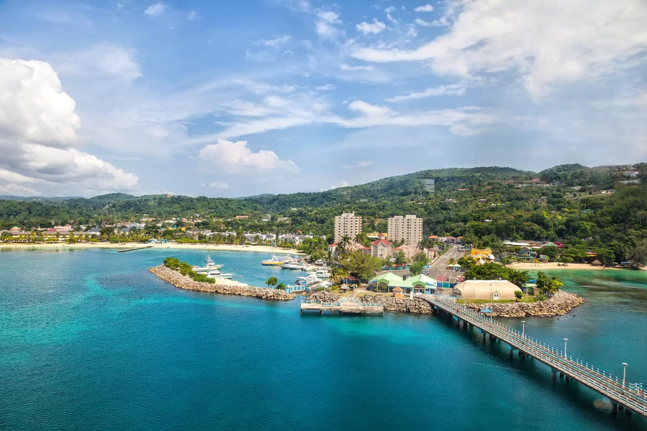 Vista aérea Ocho Rios, Jamaica