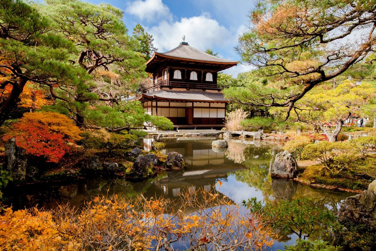 Atração turística: Templo Ginkakuji, Quioto, Japão