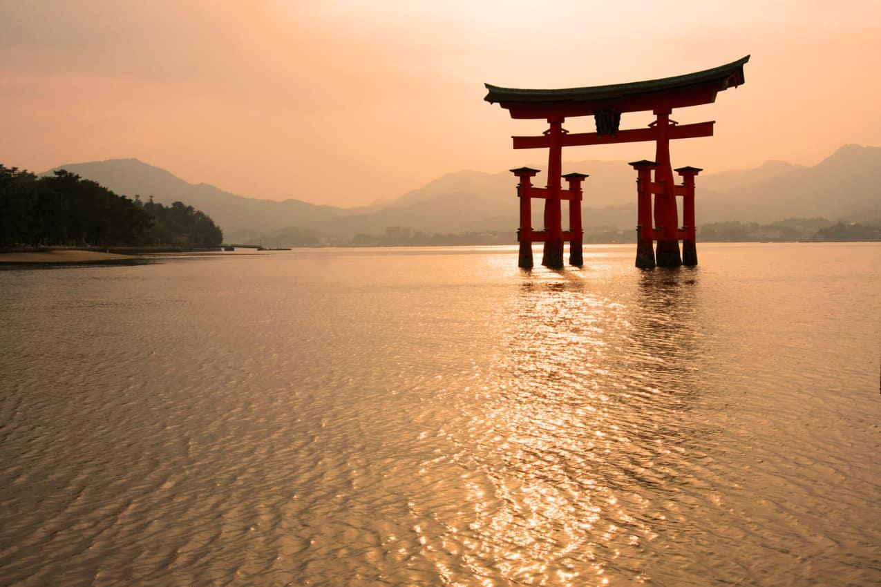 Ponto turístico: Santuáio Miyajima Torii, Hiroshima, Japão