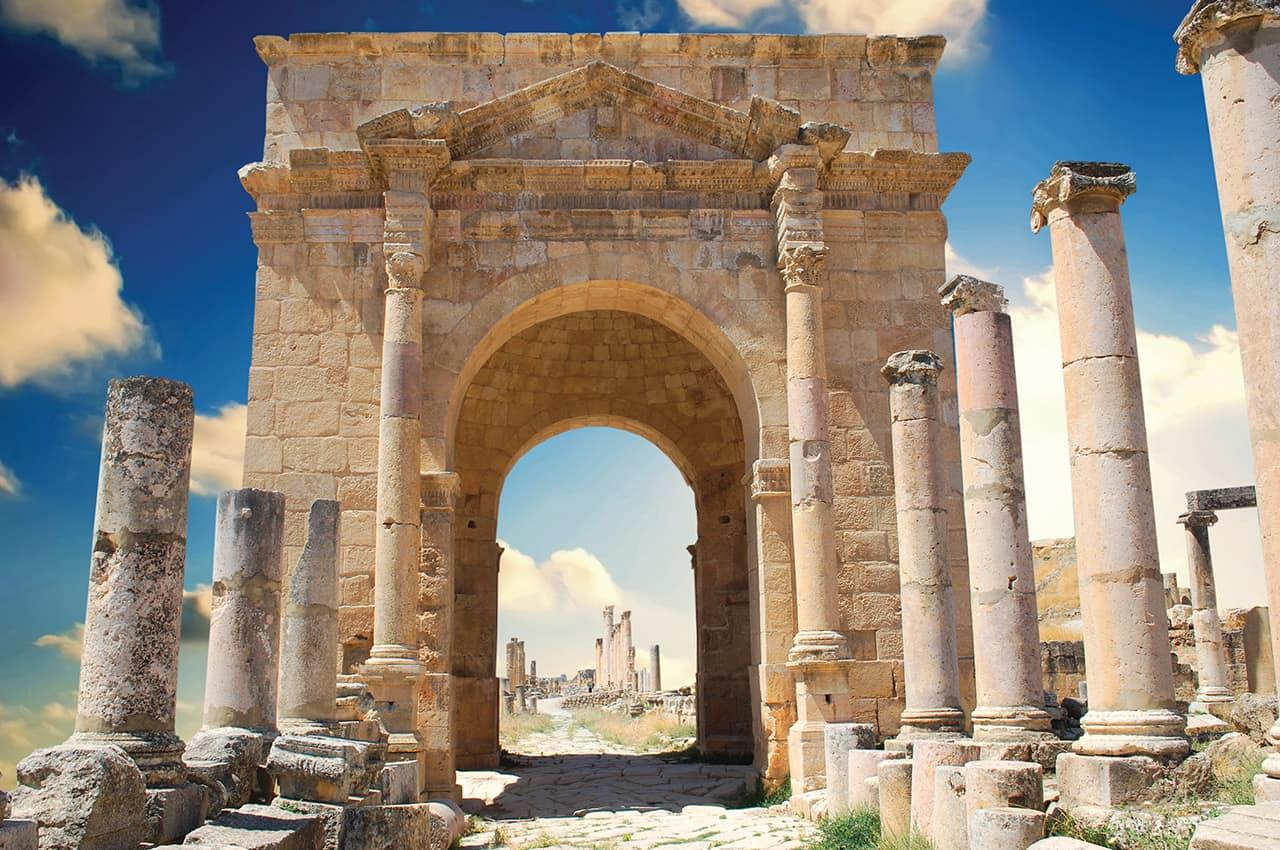 Ruínas de Jerash - Jordânia.