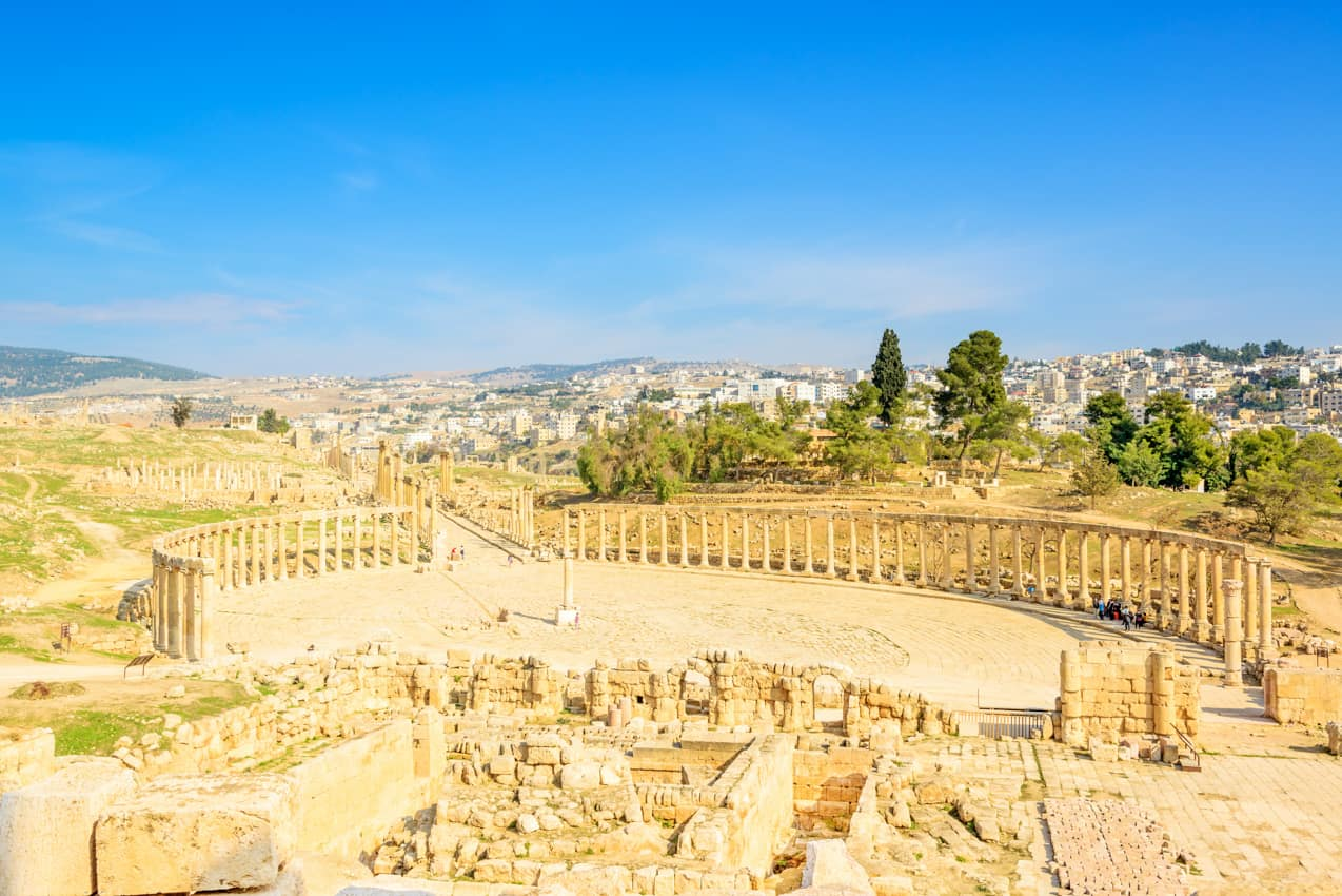 Ruínas Gerasa, cidade Jerasah, Jordânia