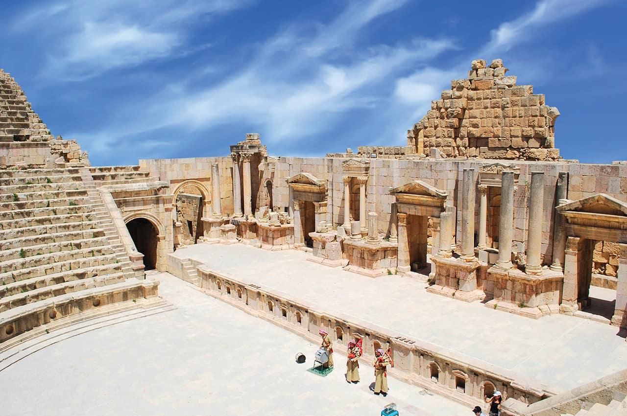 Ruínas romanas de Jerash - Jordânia.