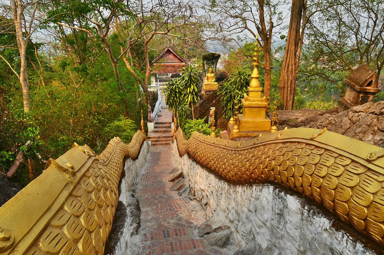 Monte Phousi em Luang Prabang - Laos