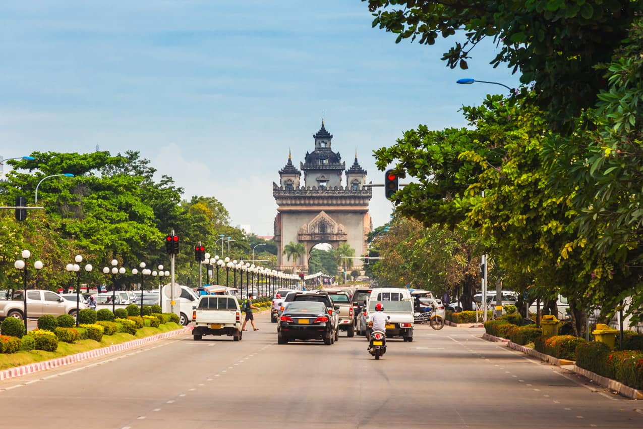 Pacote Laos: Portão Victory Patuxai, Vientiane, capital Laos
