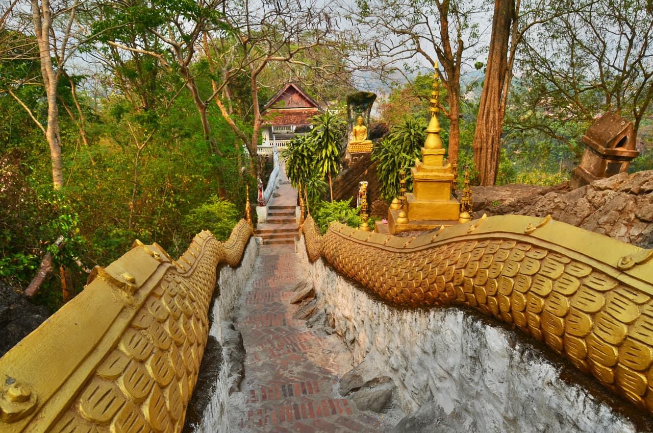 Ponto turístico Monte Phousi, Luang Prabang, Laos turismo