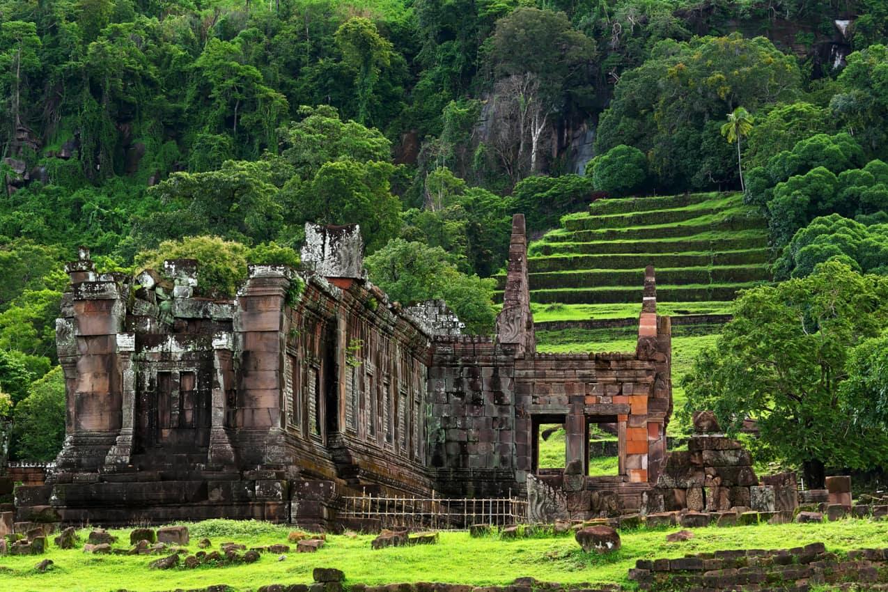 Viagem Laos, Patrimônio UNESCO vista Vat Phou Wat Phu