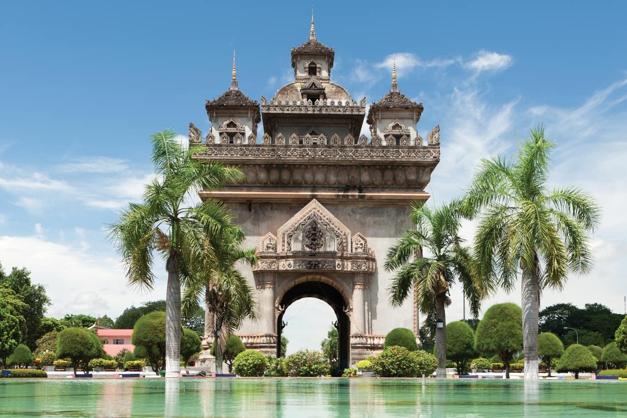 Viagem Laos: Patuxai Arco Triunfo, Vientiane