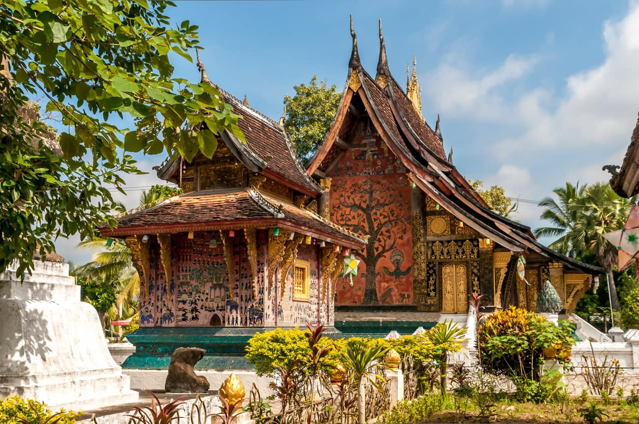 Viagem Laos: Templo Wat Xieng Thong, Luang Prabang