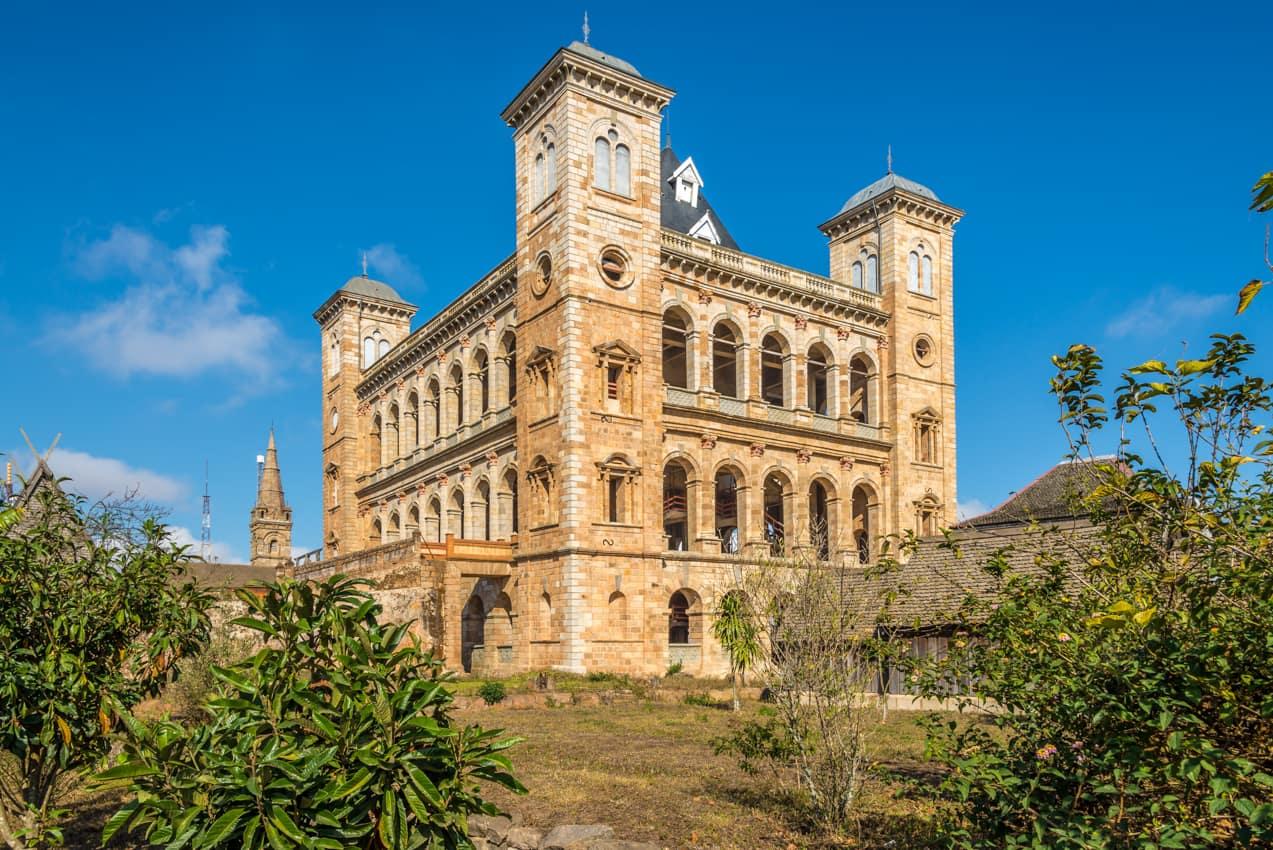 Atração turística complexo Palácio Real Rova Antananarivo, Madagascar