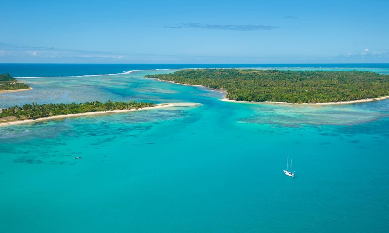 Pacote Madagascar: vista aérea ilha Saint Marie