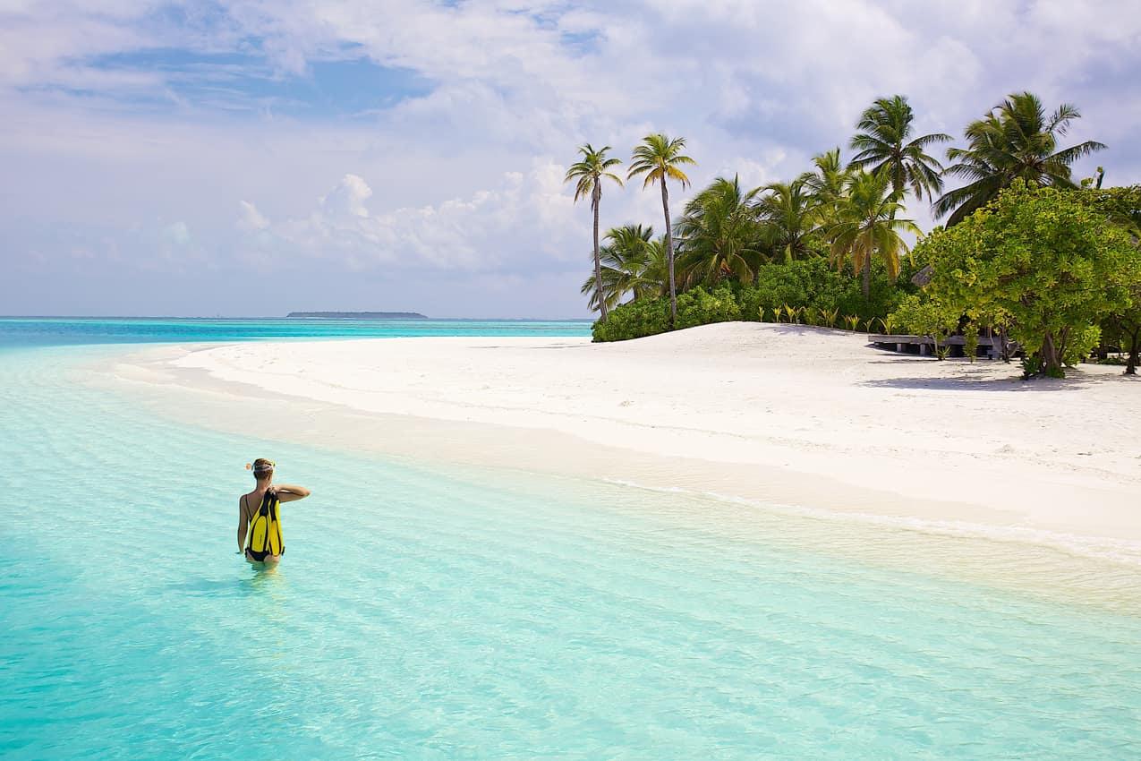 Atividade snorkelling, Conrad Maldives Rangali Island, Ilhas Maldivas