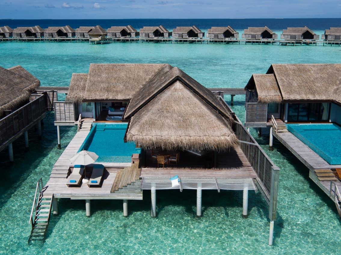 Bangalô sobre águas, Anantara Kihavah Villas, Maldives
