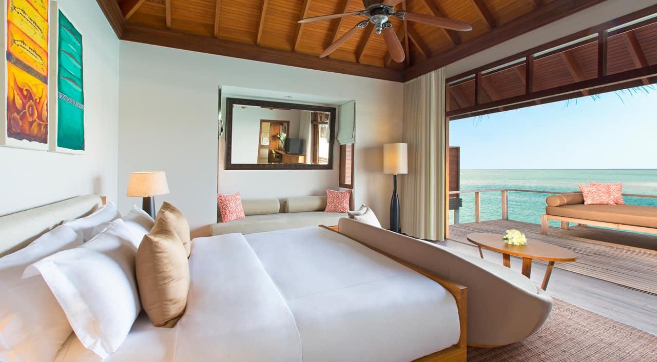 Bangalô sobre águas Deluxe, Anantara Veli Maldives Resort, Ilhas Maldivas