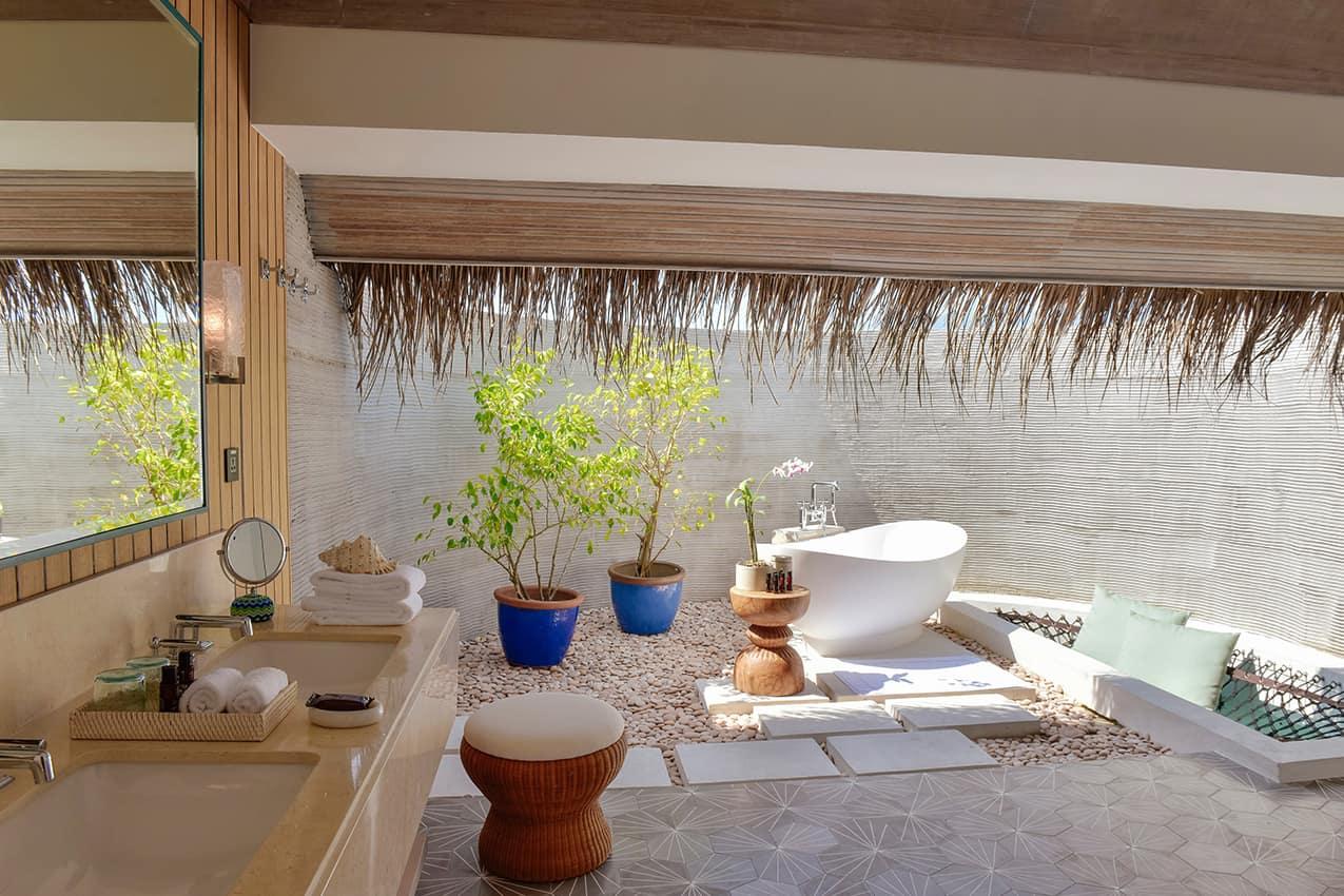 Banheiro Water Villa Kanuhura Maldives