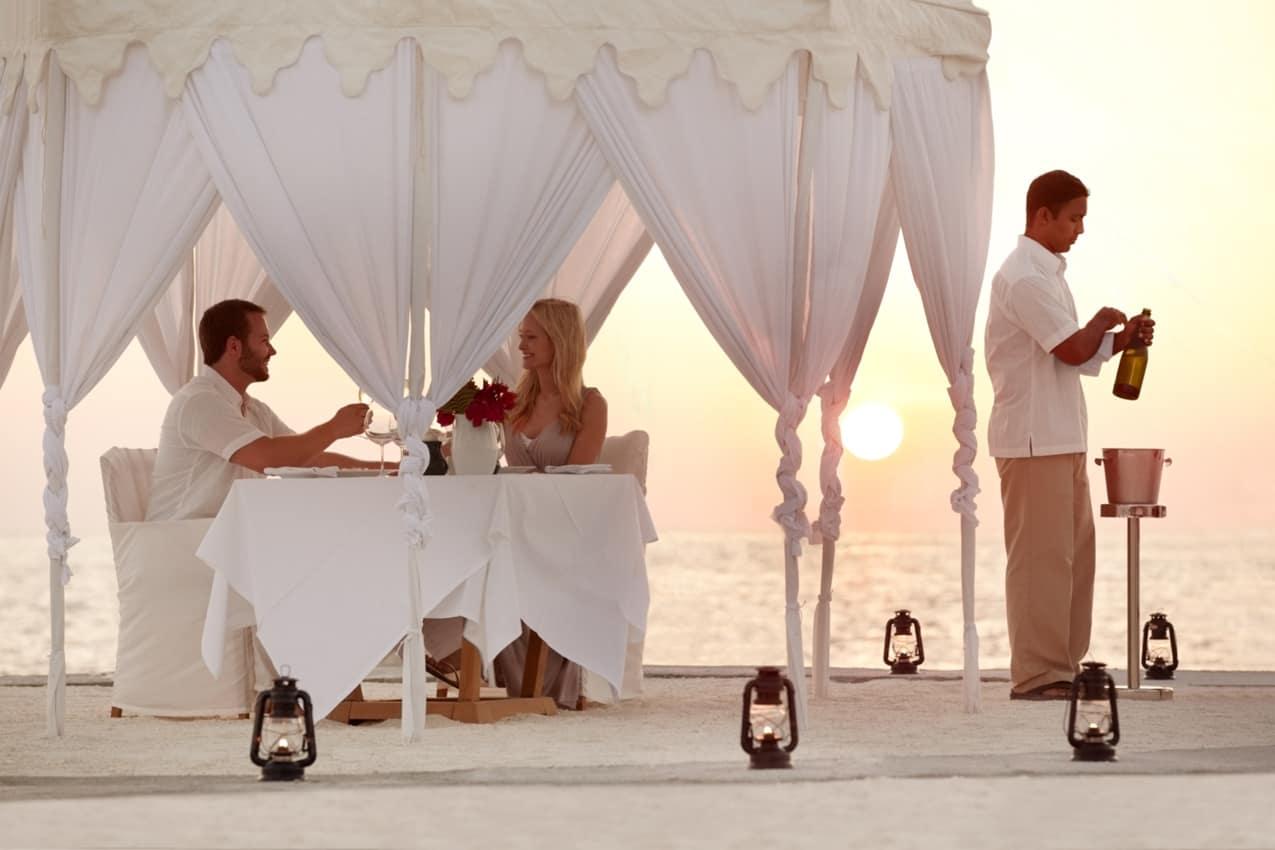 Casal jantar privado, Anantara Veli Maldives Resort, Ilhas Maldivas