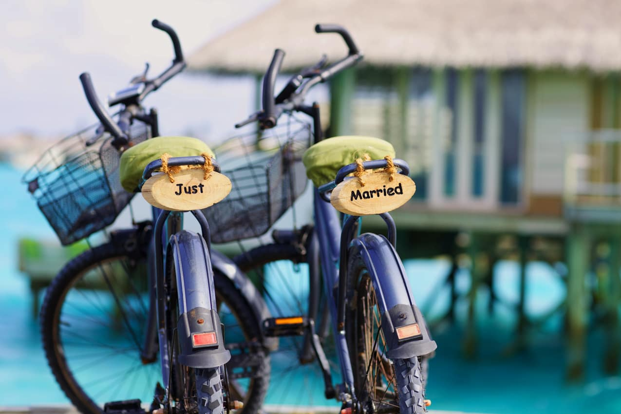 Detalhe just married, Six Senses Laamu, Ilhas Maldivas