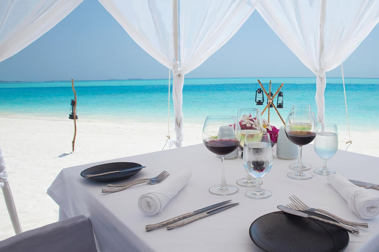 Dining By Design no Anantara Dhigu Maldives