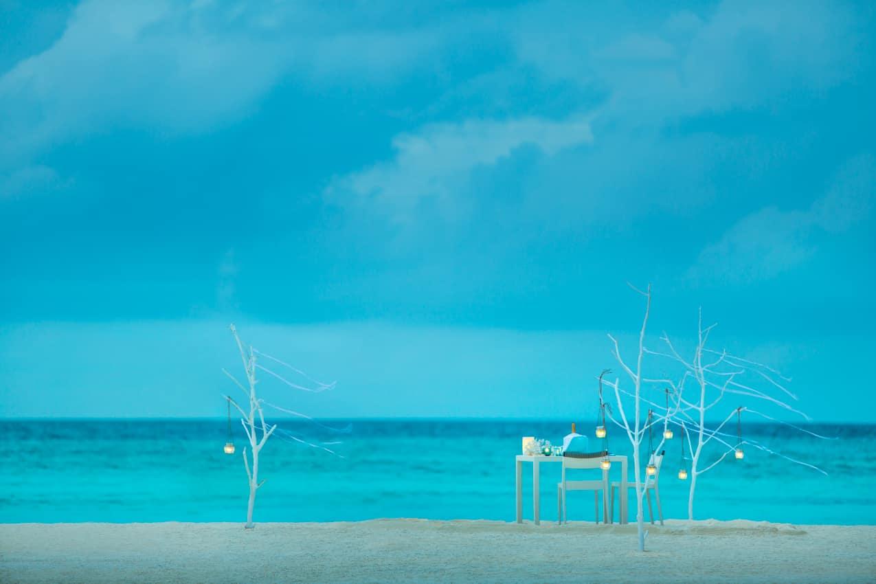 Jantar privado Maalifushi by COMO, Ilhas Maldivas