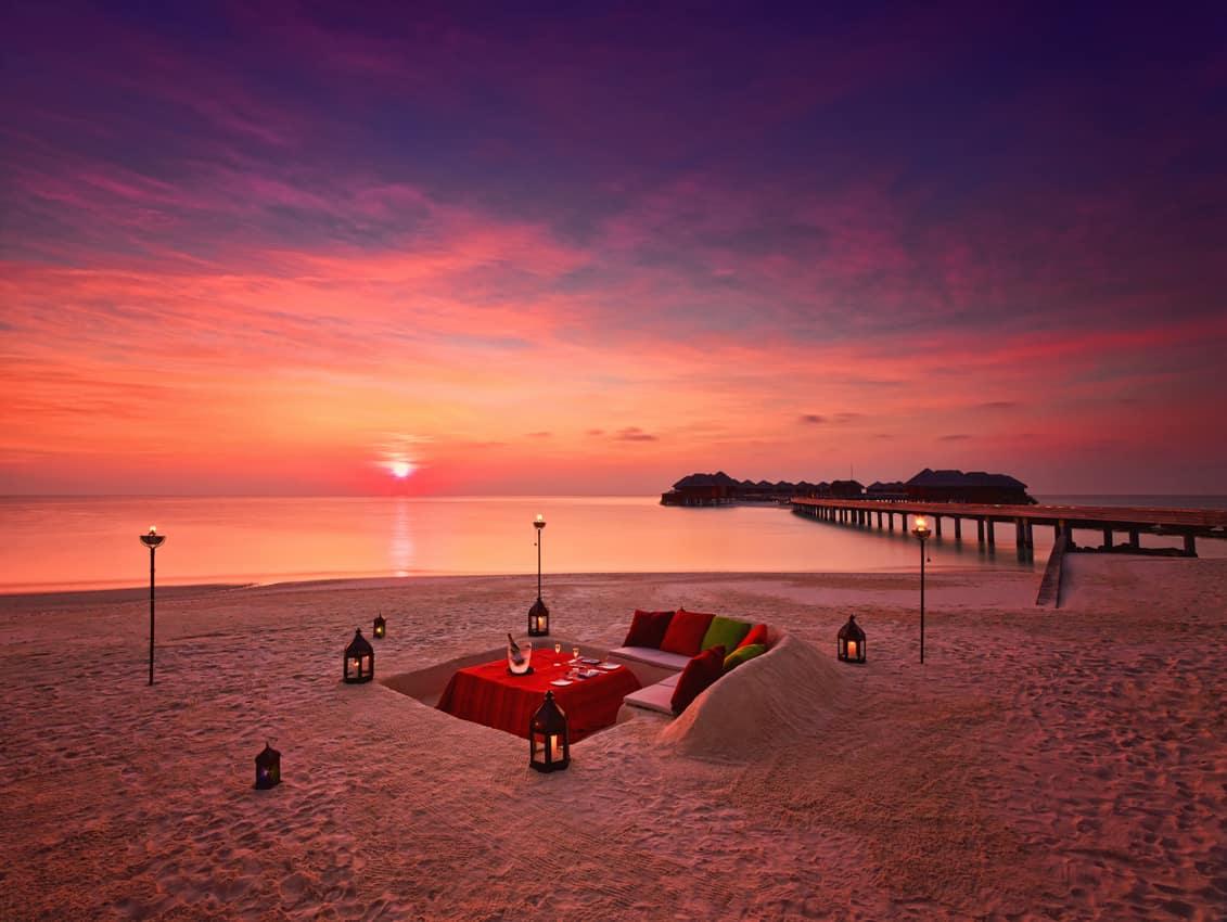 Jantar privado, PER AQUUM Huvafen Fushi, Ilhas Maldivas