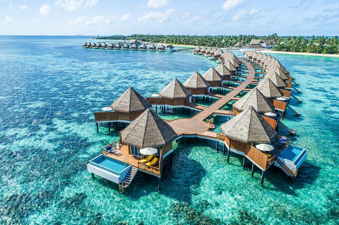 Mercure maldives kooddoo vista aerea overwater villas