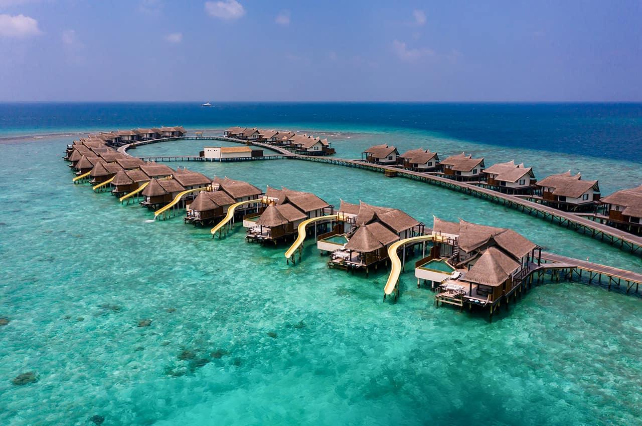 Ozen reserve bolifushi vista aerea water villas